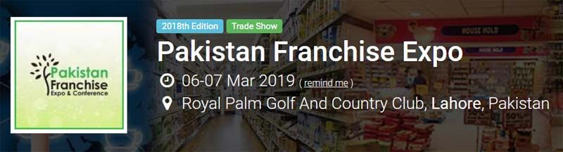 The upcoming Franchise Expo in Pakistan
