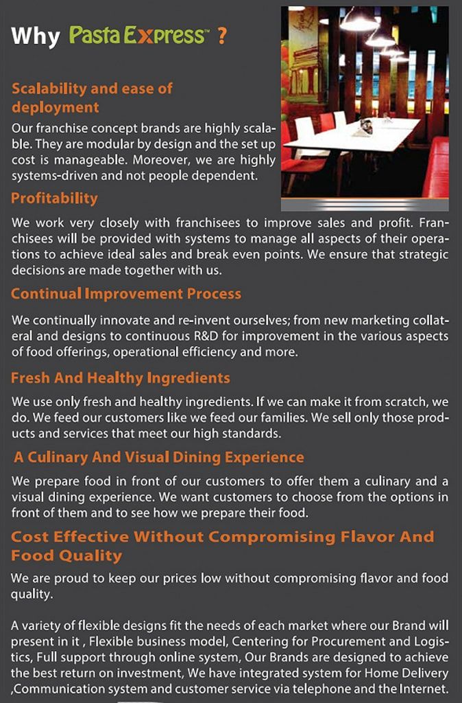 Pasta Express Group - How to Start a Franchise Business